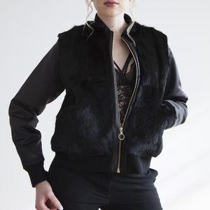 NWT Blank NYC Faux fur/leather jacket